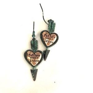 """Jewelry - """"Follow Your Arrow"""" Rustic Turquoise Earring"""